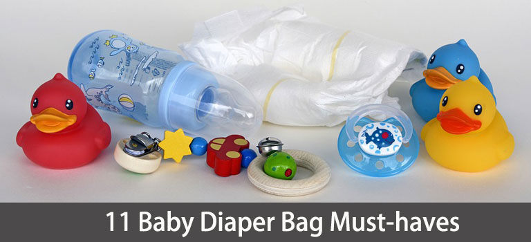 11 Things Every Mom Must Have In Her Baby Diaper Bag